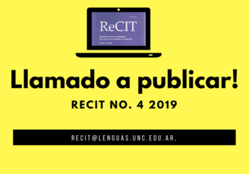 Call for papers – ReCIT, No. 4 (2019)